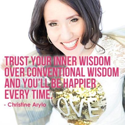 Self Love Quote Trust Inner Wisdom Christine Arylo