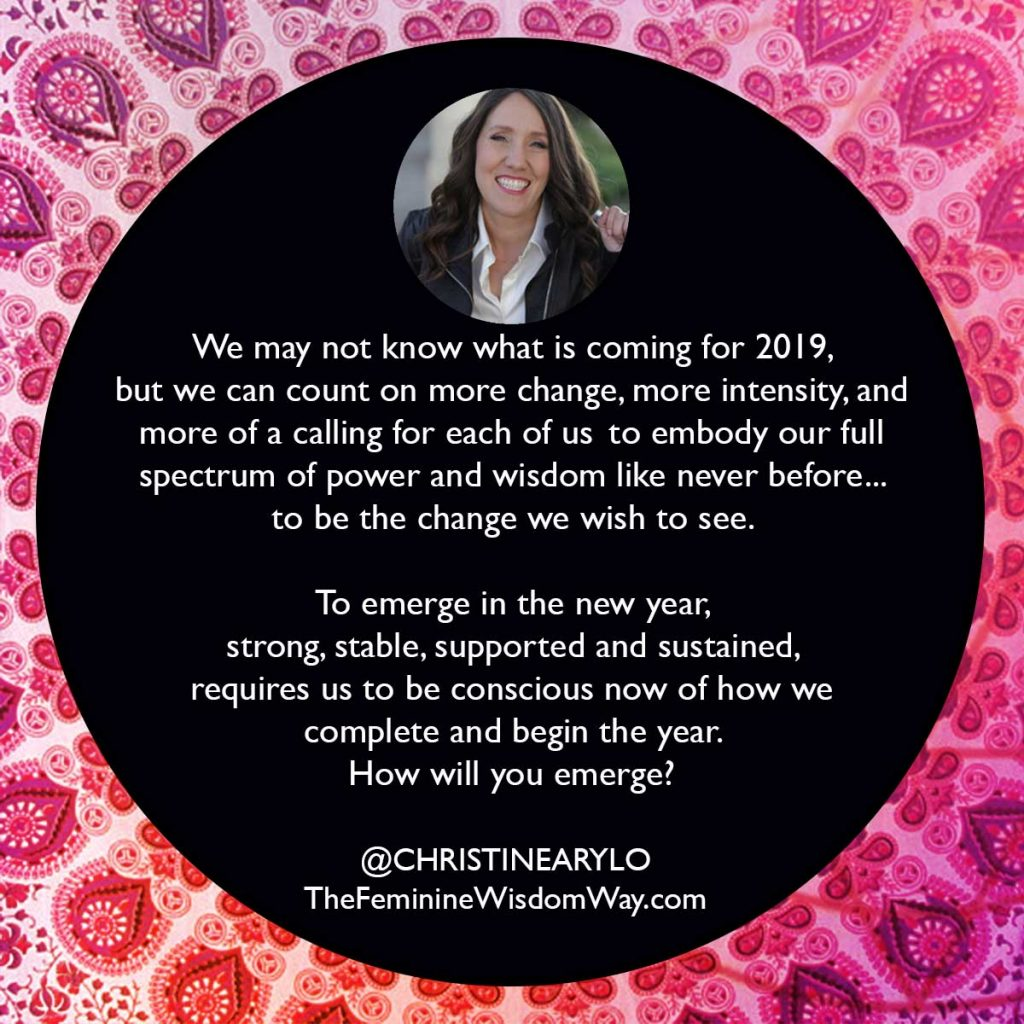 emerge in 2019 christine arylo quote